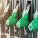 Set of petrol and diesel pumps